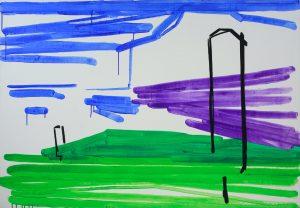 Landscape 3-6 2009 110cm x 160cm Acrylic, Canvas