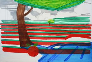 Reminiscences 1-11 2009 100cm x 150cm Acrylic, Canvas