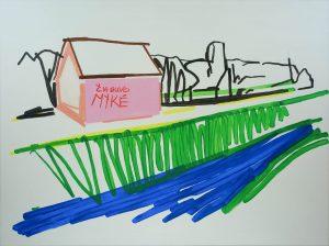 Reminiscences 4-11 2010 150cm x 200cm Acrylic, Canvas – Copy