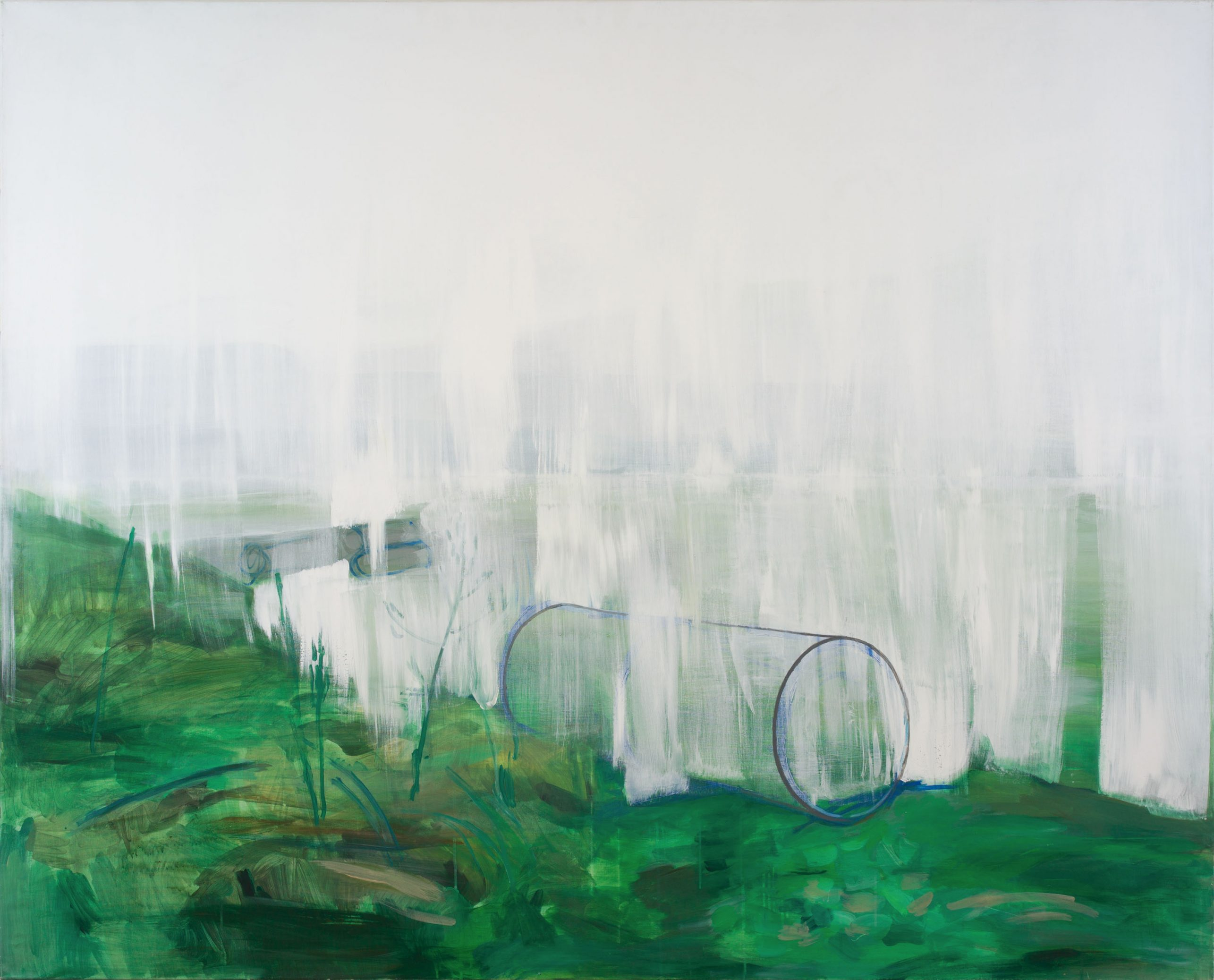 Reminiscences 10-11 (Fog) 2011 145cm x 180cm  Acrylic, Canvas