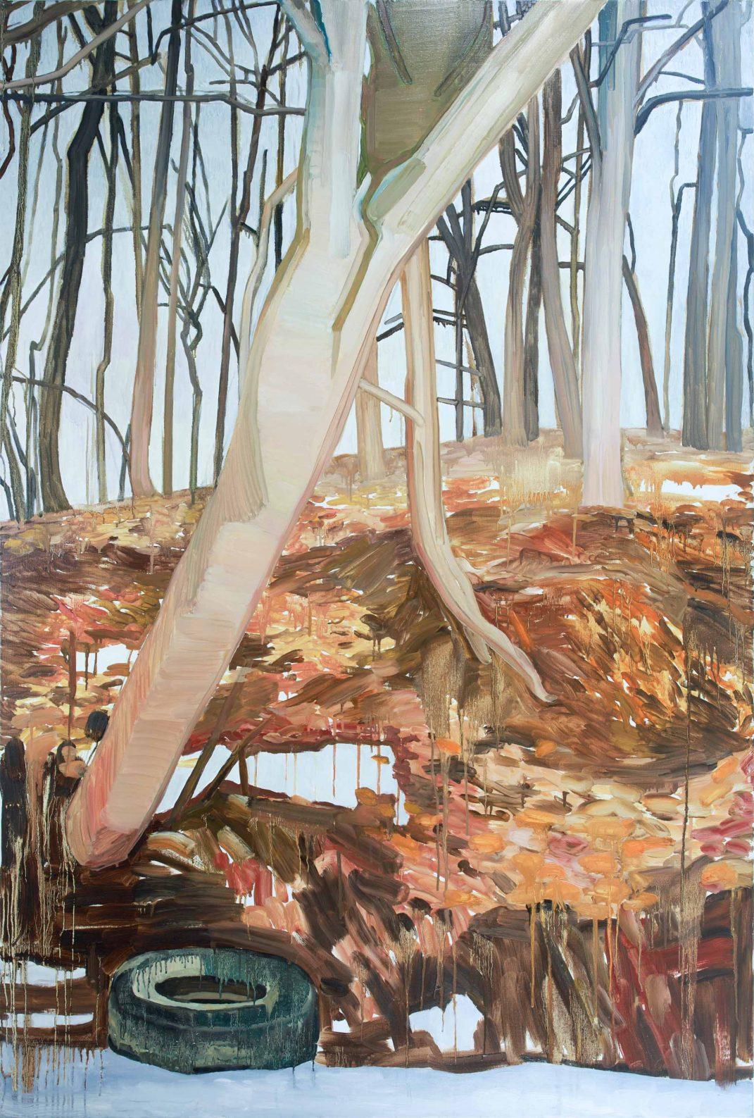 Orange Landscape 1-3 2013 195 cm x 130 cm Oil Canvas