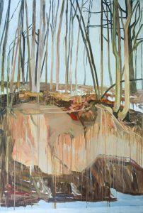 Orange Landscape 2-3 2013 195 cm x 130 cm Oil Canvas