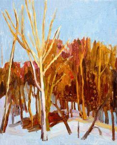 Trees 2-4 2013 41 cm x 33 cm Oil Canvas