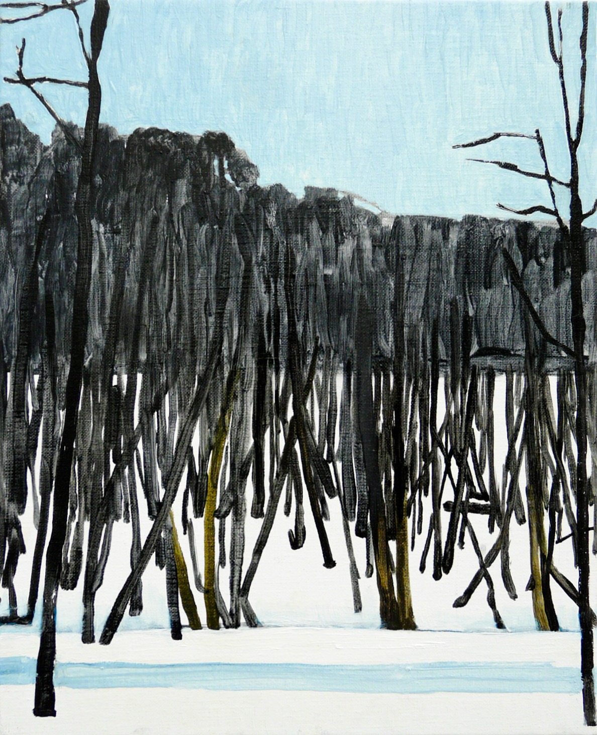 Trees 3-4 2013 41 cm x 33 cm Oil Canvas