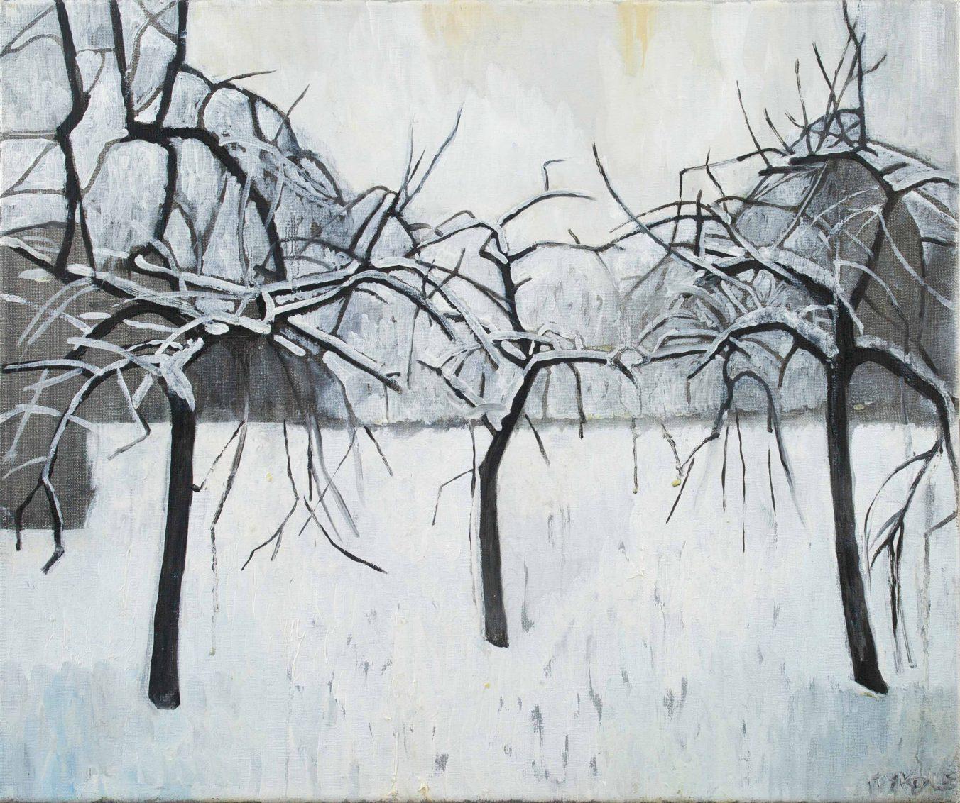 Trees 4-4 2013 46 cm x 55 cm Oil canvas