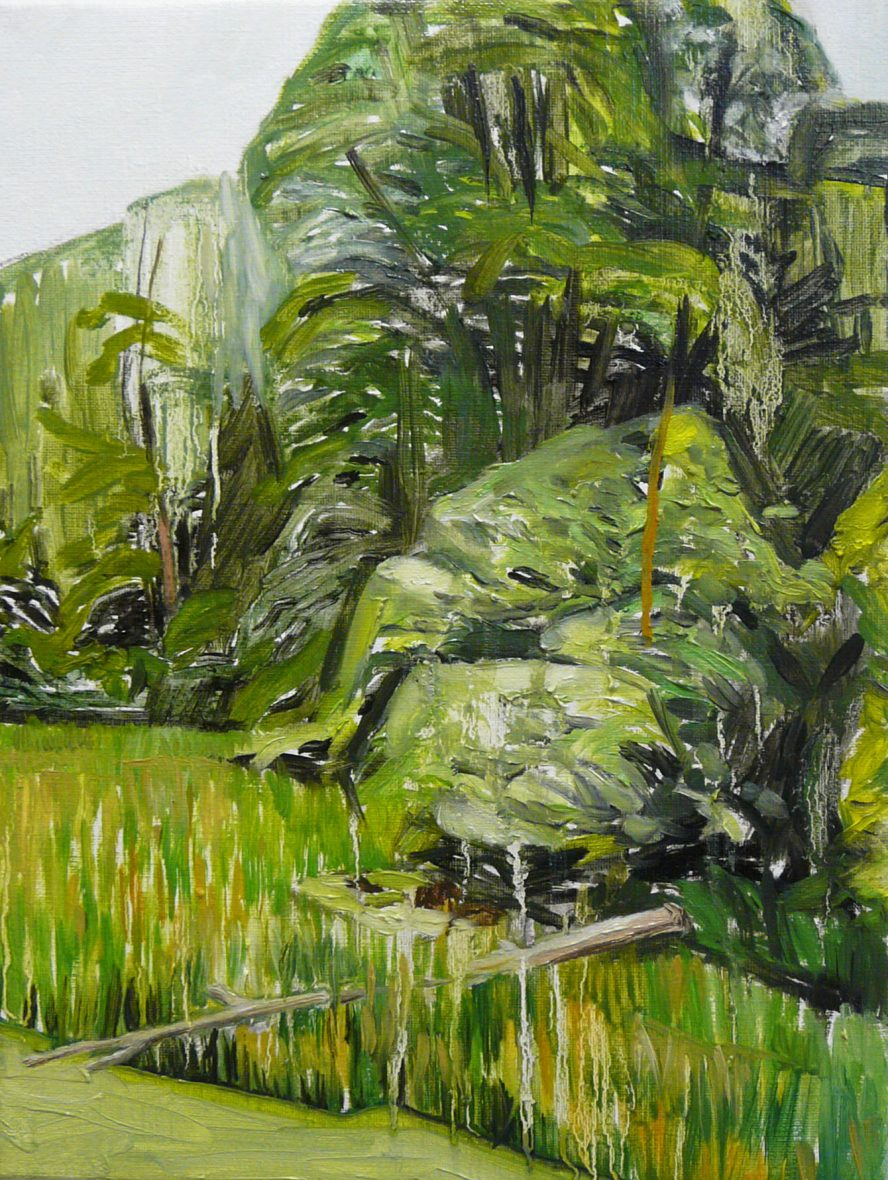 Green Landscape 2-10. Oil, canvas. 40x30cm. 2015