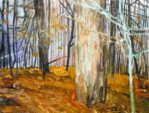 Outskirts Autumn 4-6 2015 24cm x 30cm Acrylic Canvas