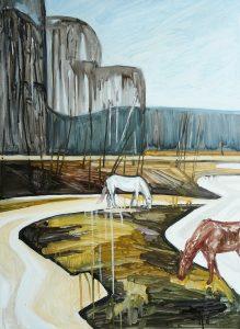 Horses 3-4, 2016. Oil, canvas. 90 x 65 cm