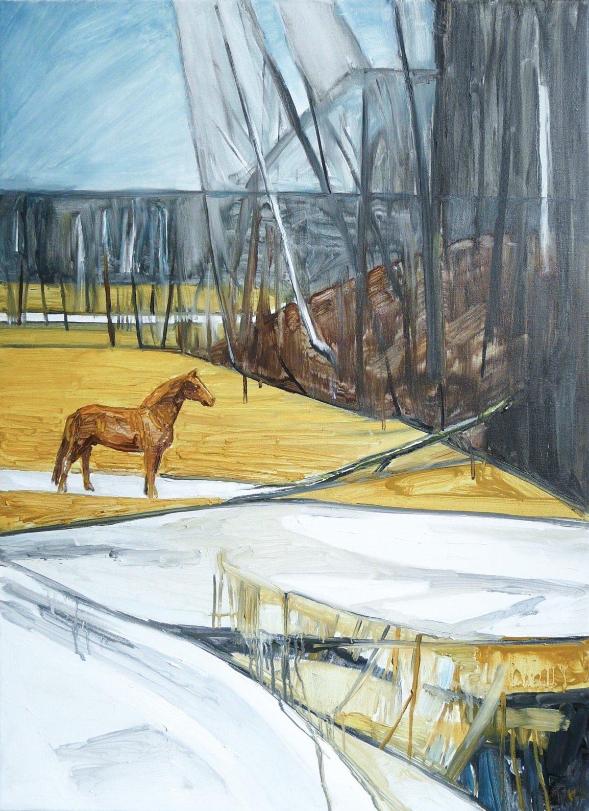 Horses 4-4, 2016. Oil, canvas. 90 x 65 cm
