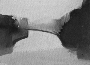 B&W – horizontal 5-6. Ink, paper. 10x15cm. 2015