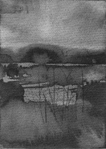 B&W vertical 19-23. Ink, paper. 15x10cm. 2015