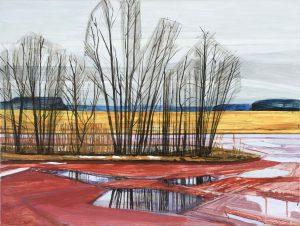 Saari 3-14. Acrylic, canvas. 60x80cm. 2017