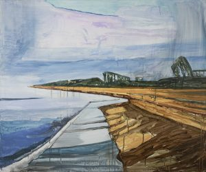 Seaside 2-4. Acrylic, canvas. 100x120cm. 2017
