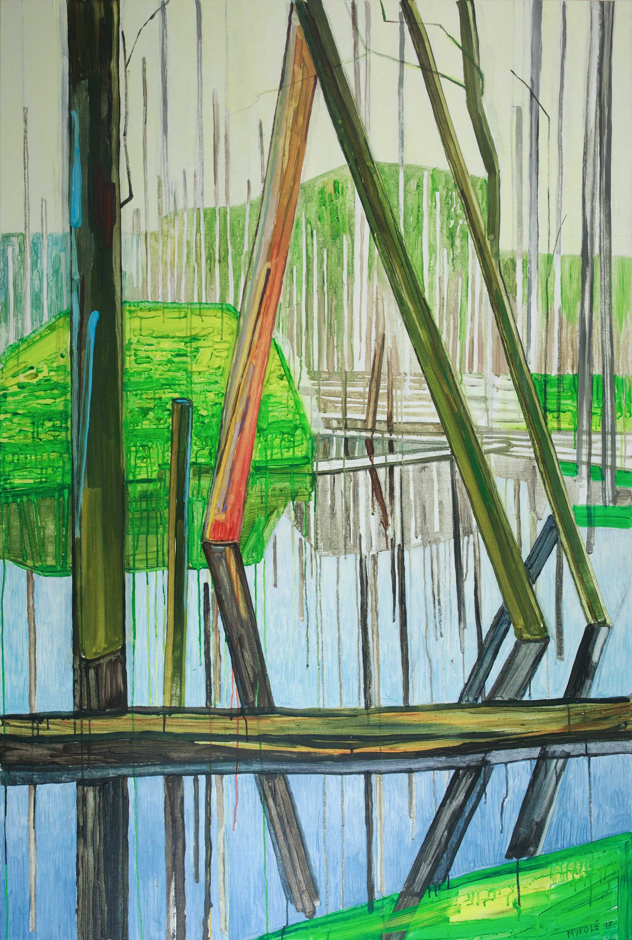 Marsh 1. Acrylic, canvas. 180x120cm. 2017 – Copy (2)