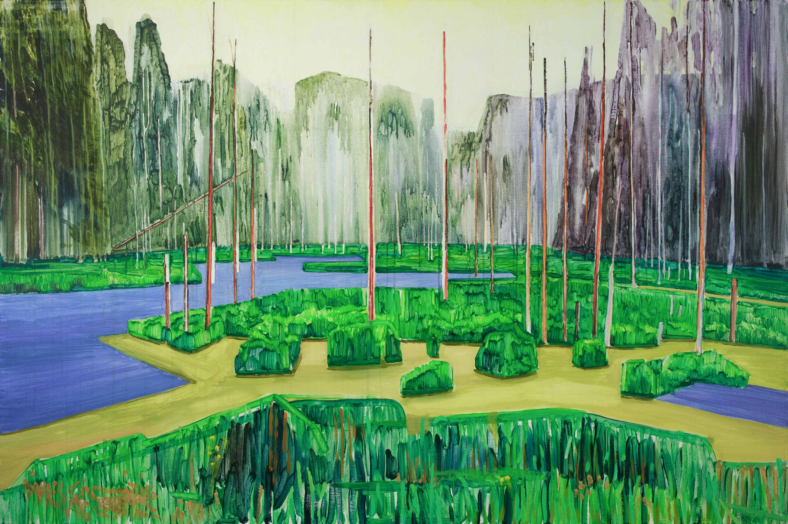 Marsh 2. Acrylic, canvas. 130x195cm. 2017