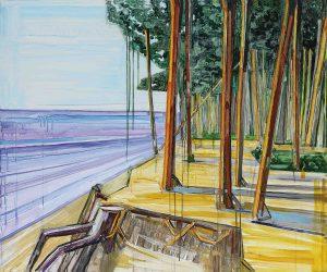 Seaside 1-4. Acrylic, canvas. 100x120cm. 2017