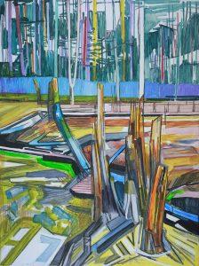 Marsh 7. Acrylic, canvas. 120x90cm. 2017