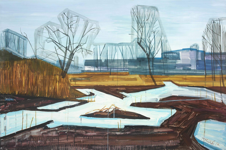 Cityside 1. Acrylic, canvas. 80x120cm. 2017