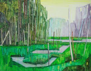 Marsh 10. Acrylic, canvas. 70x90cm. 2018