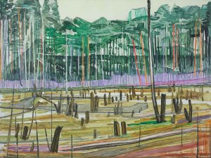 Marsh 12. Acrylic, canvas. 60x80cm. 2018 – 1