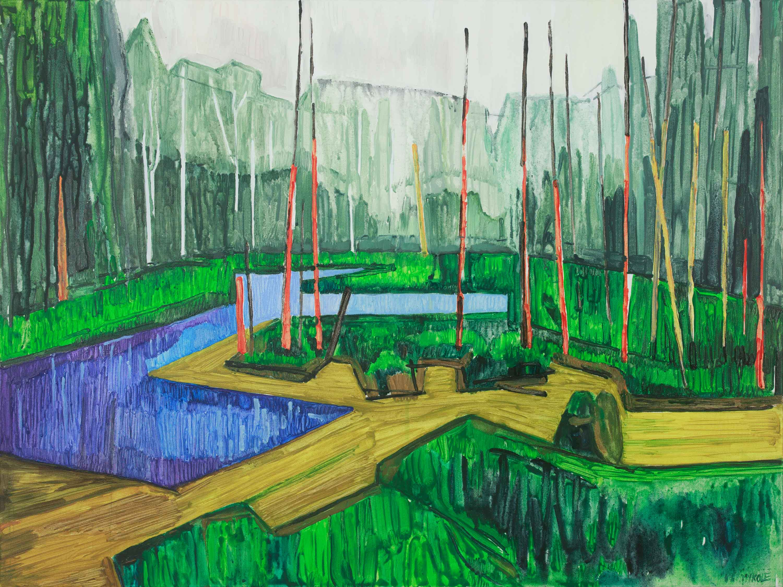 Marsh 13. Acrylic, canvas. 60x80cm. 2018