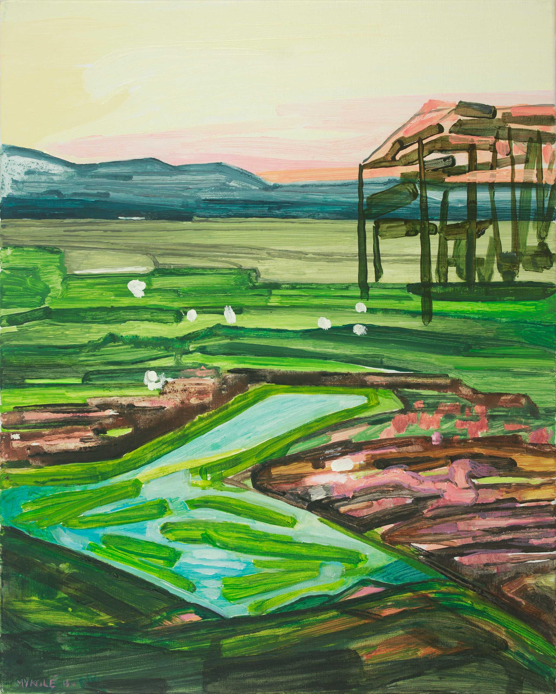 Marsh 17. Acrylic, canvas. 50x40cm. 2018