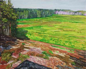 Marsh 8. Acrylic, canvas. 40x50cm. 2018
