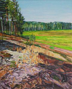 Marsh 9. Acrylic, canvas. 50x40cm. 2018