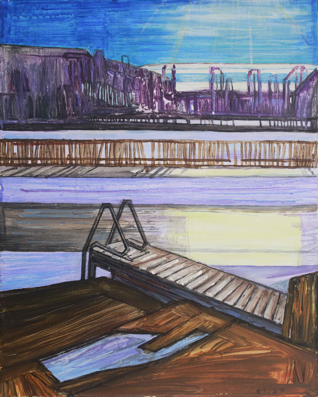Saari 17. Acrylic, canvas. 50x40cm. 2018