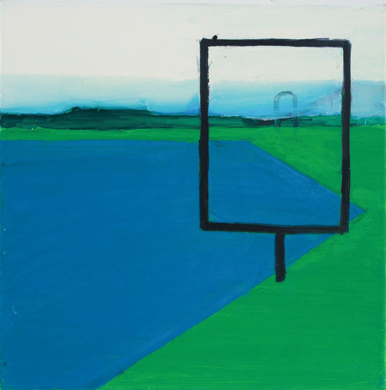 2D 1-5 2008 30cm x 30cm Oil, Canvas