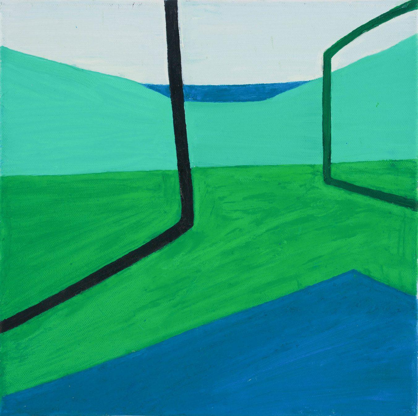 2D 2-5 2008 30cm x 30cm Oil, Canvas