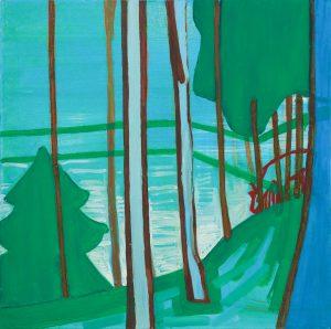 Deers 2-4 2008 60cm x 60cm Oil, Canvas