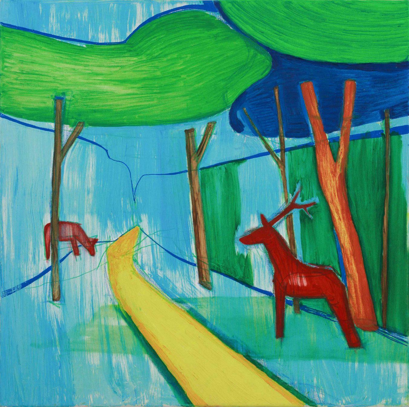 Deers 3-4 2008 60cm x 60cm Oil, Canvas