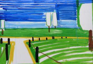 Landscape 2-4 2008 58cm x 80cm Acrylic, Paper
