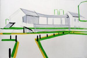 Landscape 3-4 2008 65cm x 90cm Acrylic, Paper