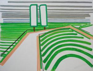 Landscape 6-6 a2009 100cm x 130cm Acrylic, Canvas
