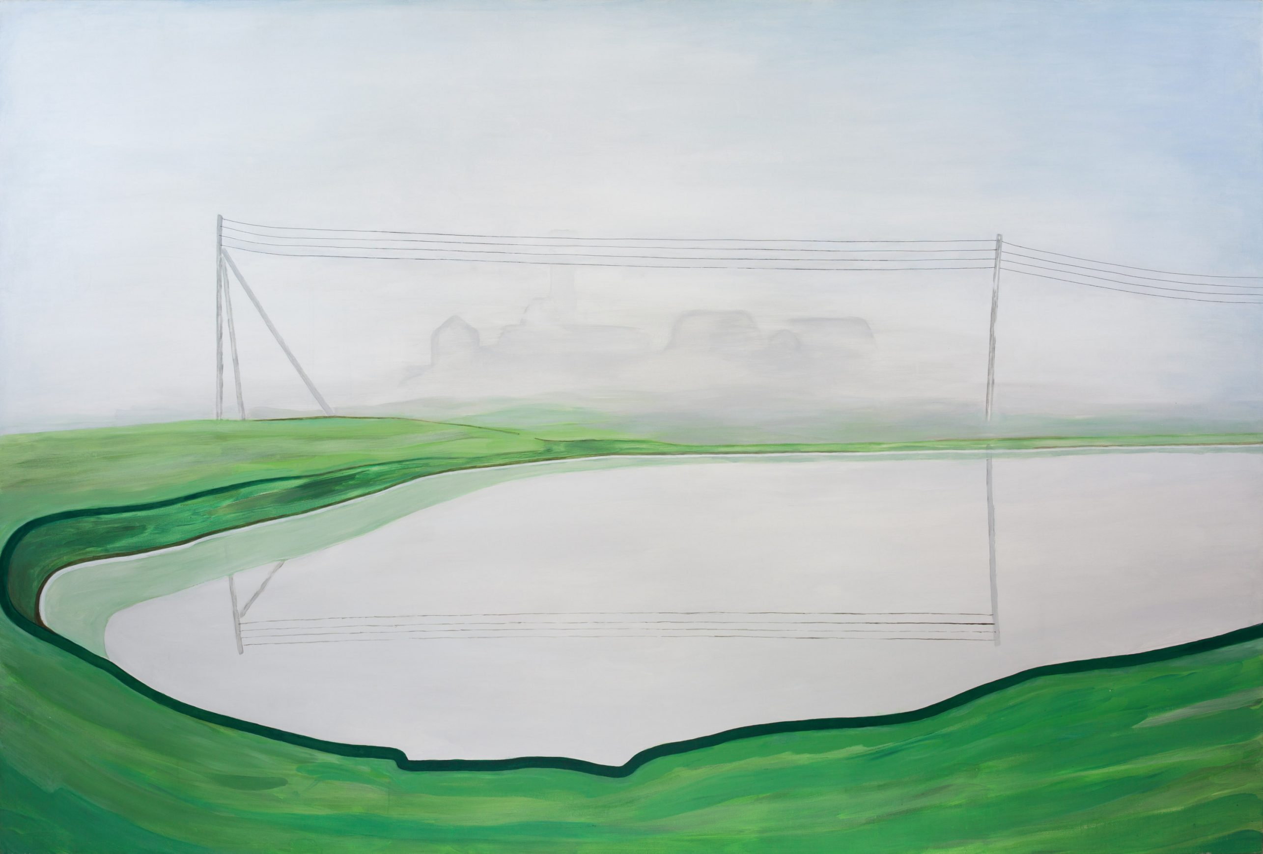 Reminiscences 9-11 (foggy summer)  2011 140cm x 210cm Acrylic, Canvas (a) – Copy (4)