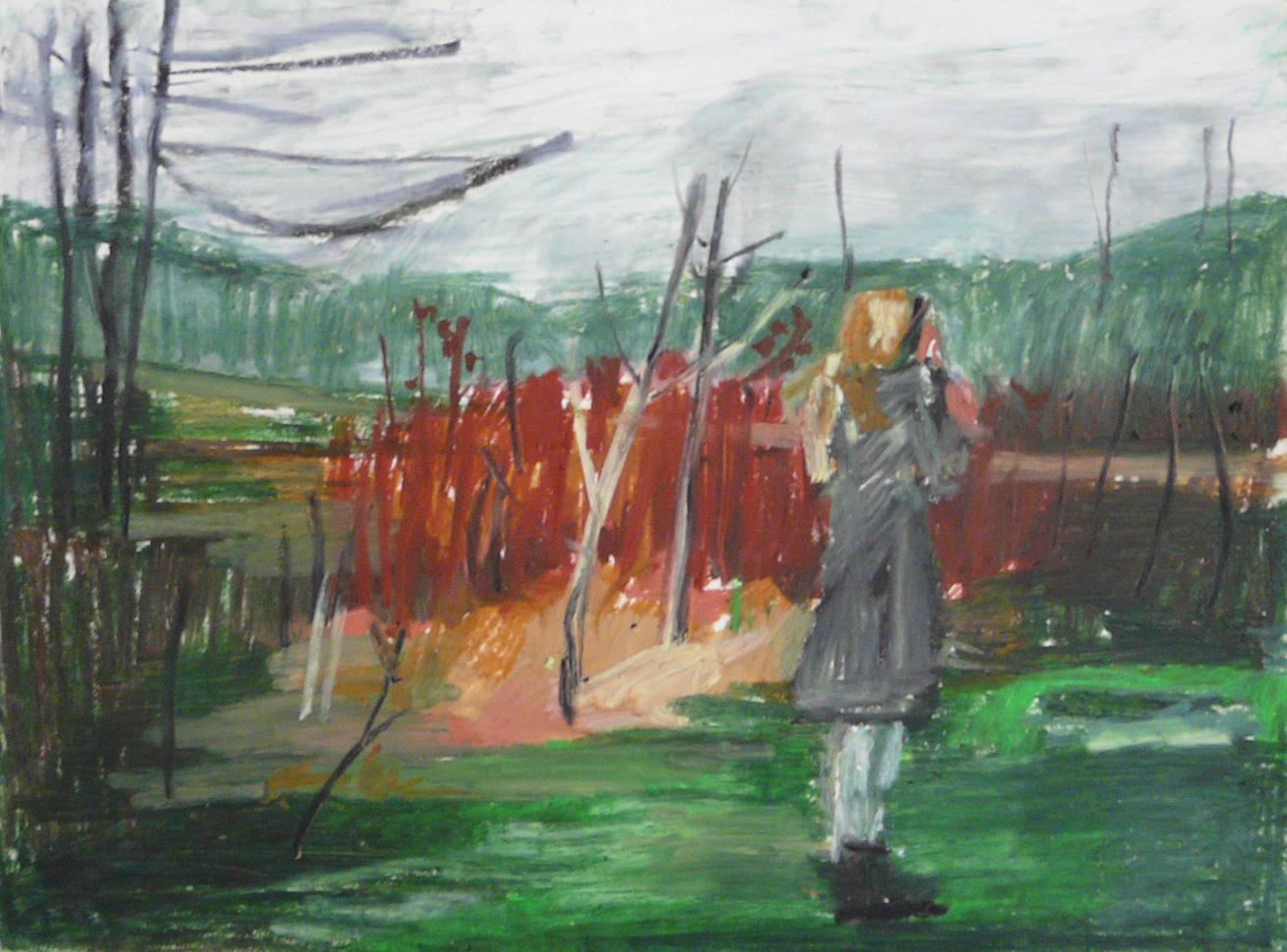 Winterscape 14-17 2012 24×32 ink oil pastel paper