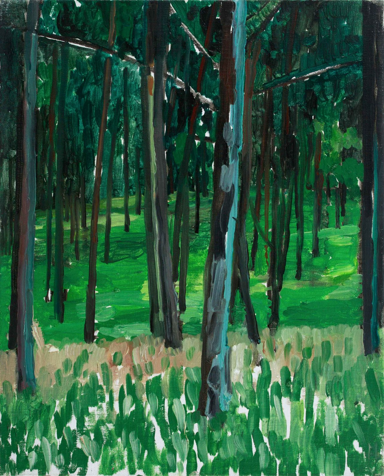 Forest 1-2 41×33 2013 Oil canvas