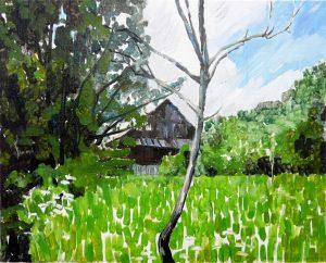 Revisiting 3-3-6. Oil, canvas. 33x41cm. 2013