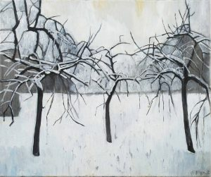 Trees 4-4 2013 46 cm x 55 cm Oil canvas