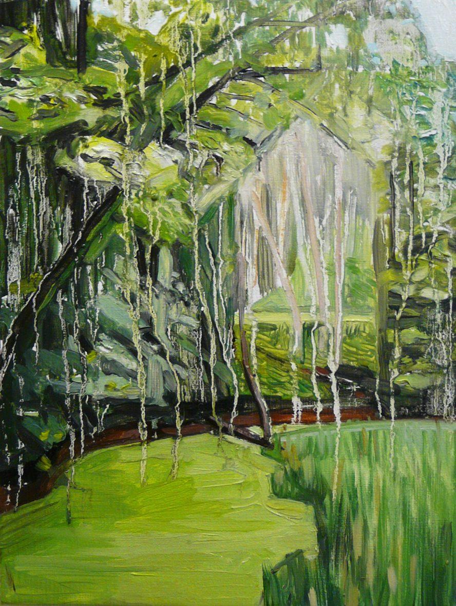 Green Landscape 3-10. Oil, canvas. 40x30cm. 2015-2