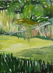 Green Landscape 6-10. Oil, canvas. 21x15cm. 2015
