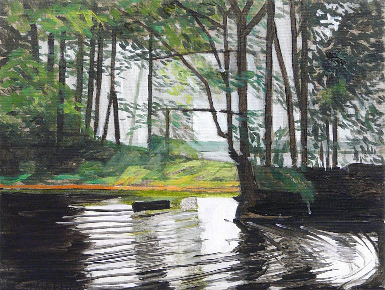 Lakesides 2-62015 30cm x 40cm Acrylic canvas