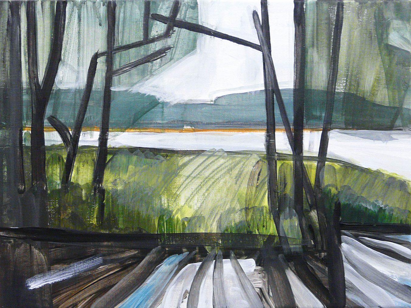 Lakesides 4-6 2015 30×40 Acrylic canvas