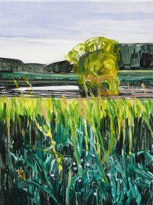 Lakesides 5-62015 21cm x 15cm Acrylic canvas – Copy