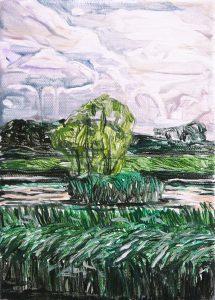 Lakesides 6-62015 21cm x 15cm Acrylic canvas – Copy