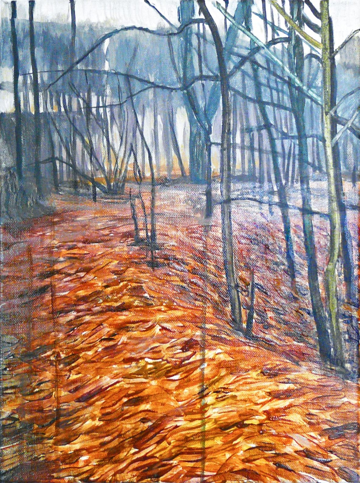 Outskirts Autumn 3-6 (a)2015 40cm x 30cm Acrylic Canvas