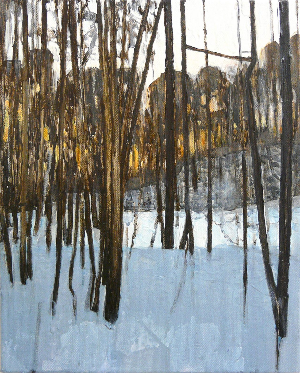 Outskirts Winter 1-5 201535cm x 28cm Acrylic canvas