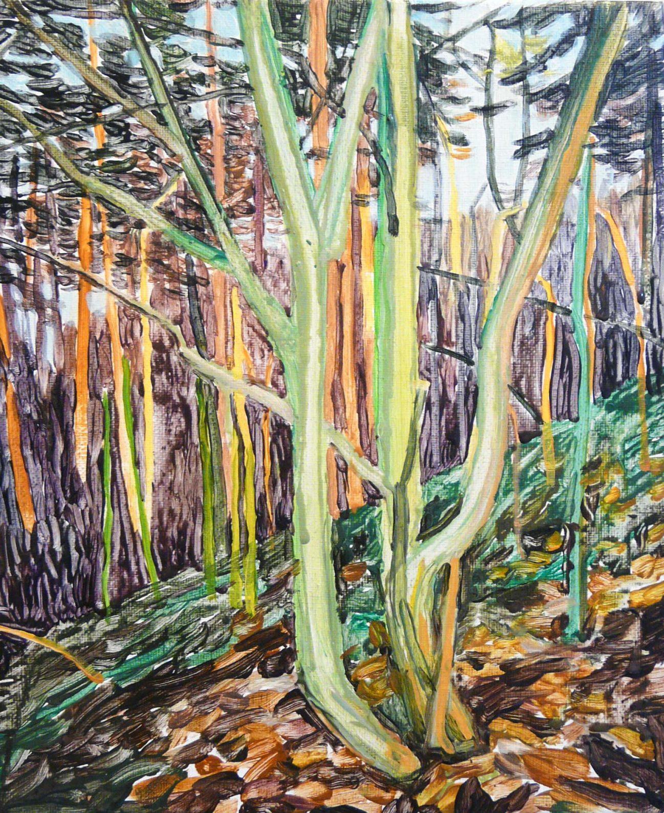 Outskirts autumn 6-6 2015 30×24 Acrylic canvas 2